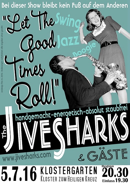 Poster Klostermauer Jive Sharks
